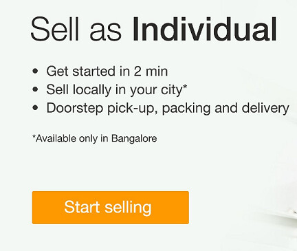 Amazon small sellers - sell as an individual