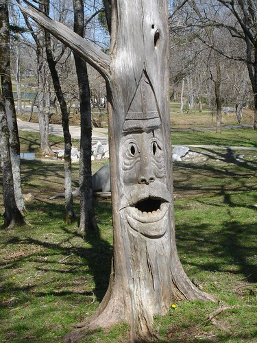 Tim Tingle's Carvings - Tinglewood - at Orr Park in Montevallo AL