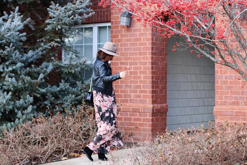 pink-blush-dress-faux-leather-jacket-floppy-hat-3