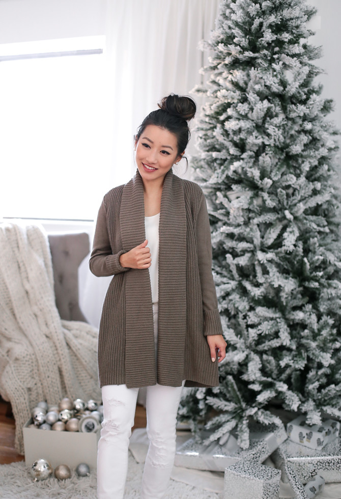 loft cardigan sweater white jeans extra petite blog