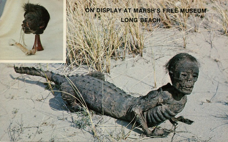Jake The Alligator Man & Shrunken Head, Marsh's Free Museum, Long Beach, Washington