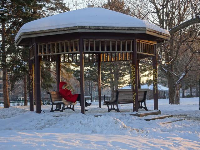 Sitting in Winter
