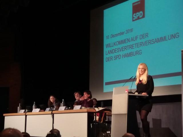 Landesvertrerversammlung der SPD Hamburg zur Aufstellung der Bundestagsliste