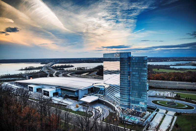 Exterior view of MGM National Harbor by Stephen Wilkes