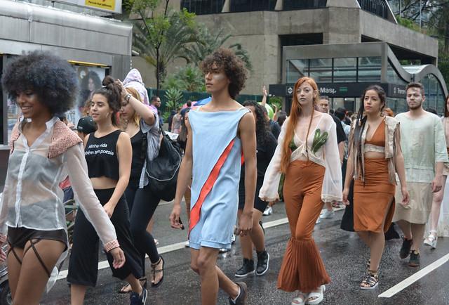 Etec José Rocha Mendes apresenta desfile na Avenida Paulista