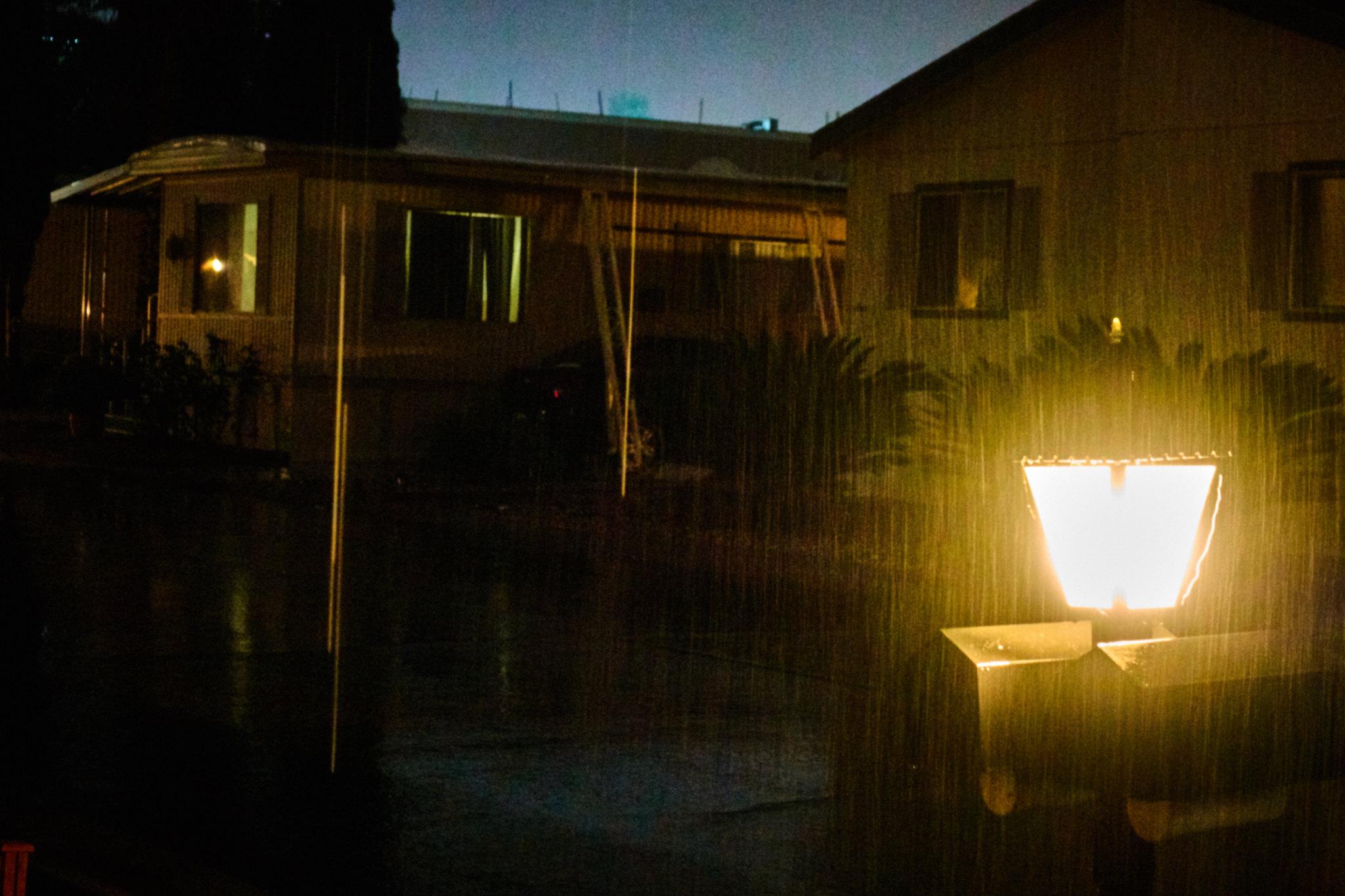 Rain, Mailbox, Night