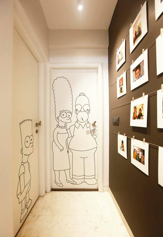 simpsons on door
