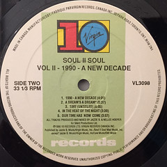 SOUL II SOUL:VOL.II(1990-A NEW DECADE)(LABEL SIDE-B)