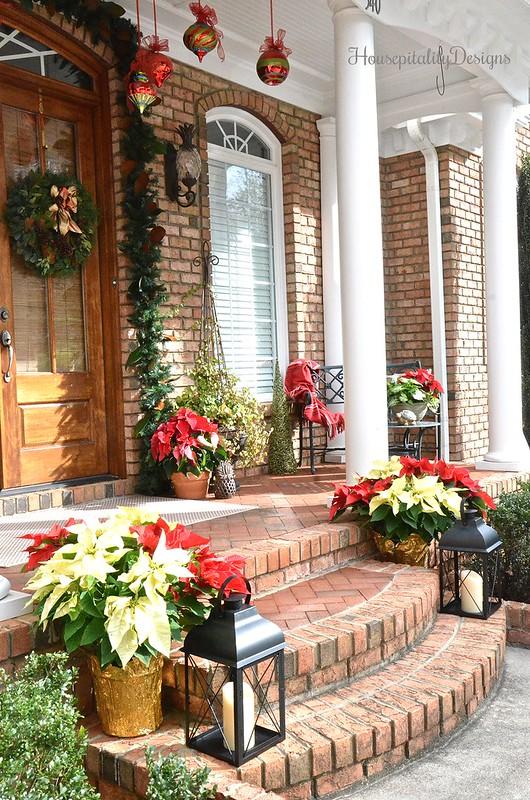 Christmas-Porch-Poinsettias-Magnolias-Housepitality Designs