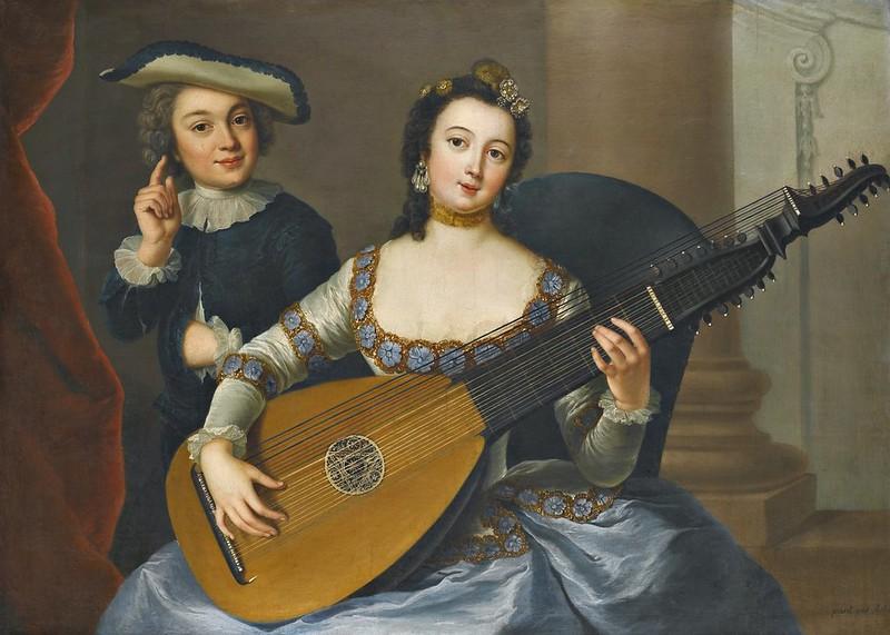 Anna Dorothea Lisiewska - An allegory of hearing