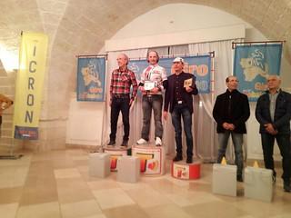 Franco Laporta (primo da sx) premiato al Giro dell'Arcobaleno