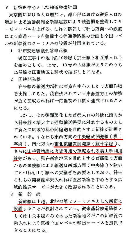 大新宿構想時代の上越新幹線新宿駅地下ホーム (6)