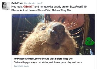 My quokka buddy and I are famous