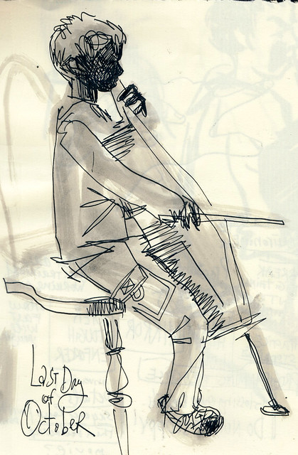 Sketchbook #101: Cello Practice