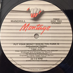 MANDRILL:PUT YOUR MONEY WHERE THE FUNK IS(LABEL SIDE-B)