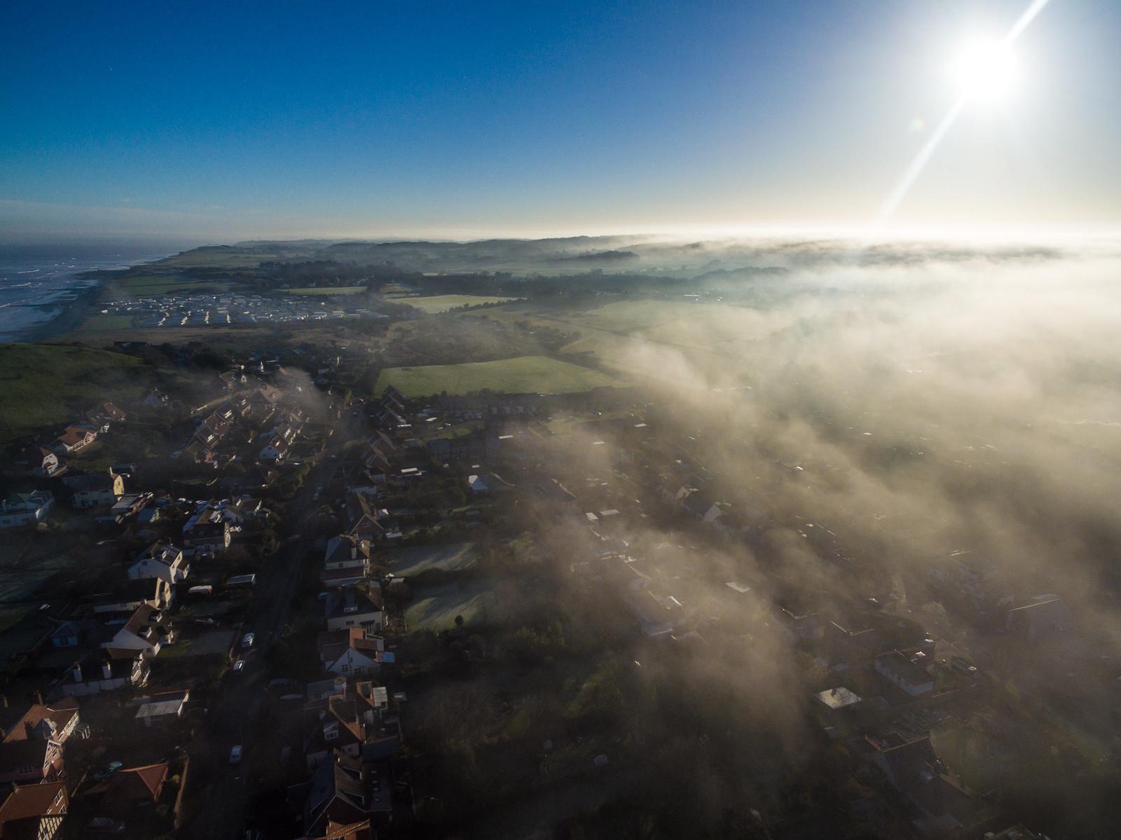 Fog ripples rolling in