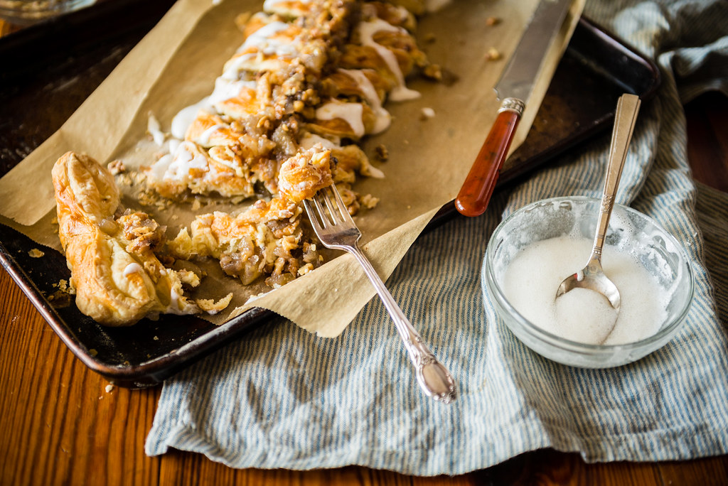 Puff Pastry Austrian Apple Strudel - This is a quick copycat recipe that can be made at home with under 10 ingredients!
