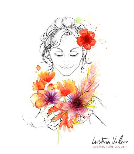 Cerrar los ojos y oler las flores