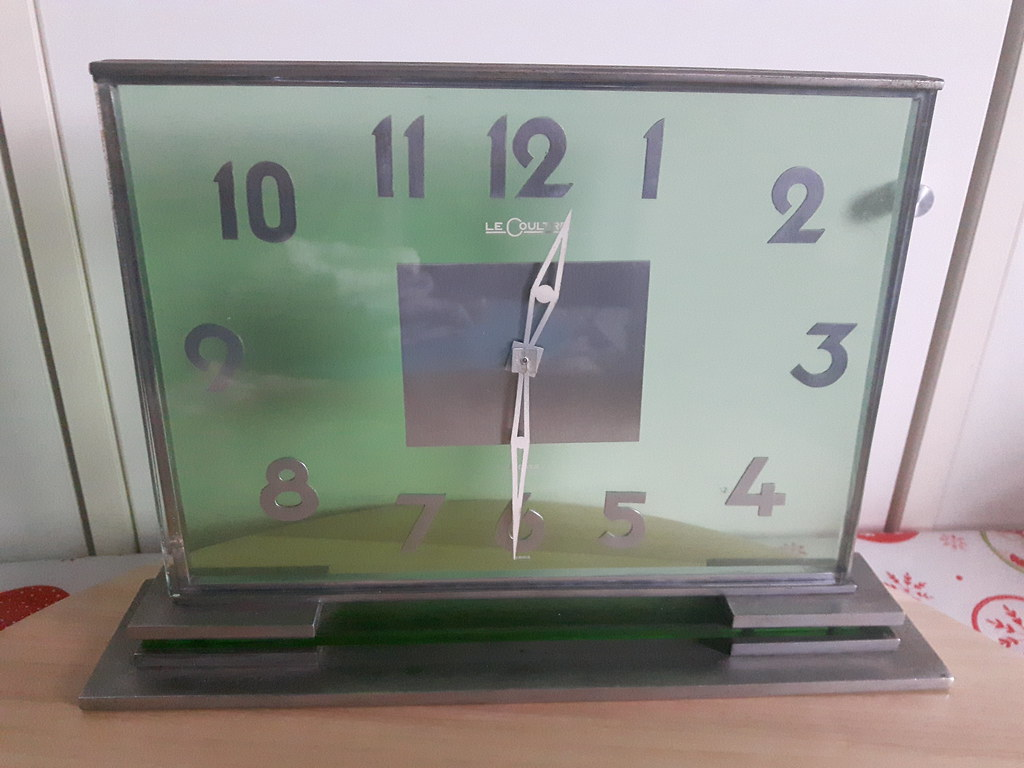 Jaeger LeCoultre table clock 8 days