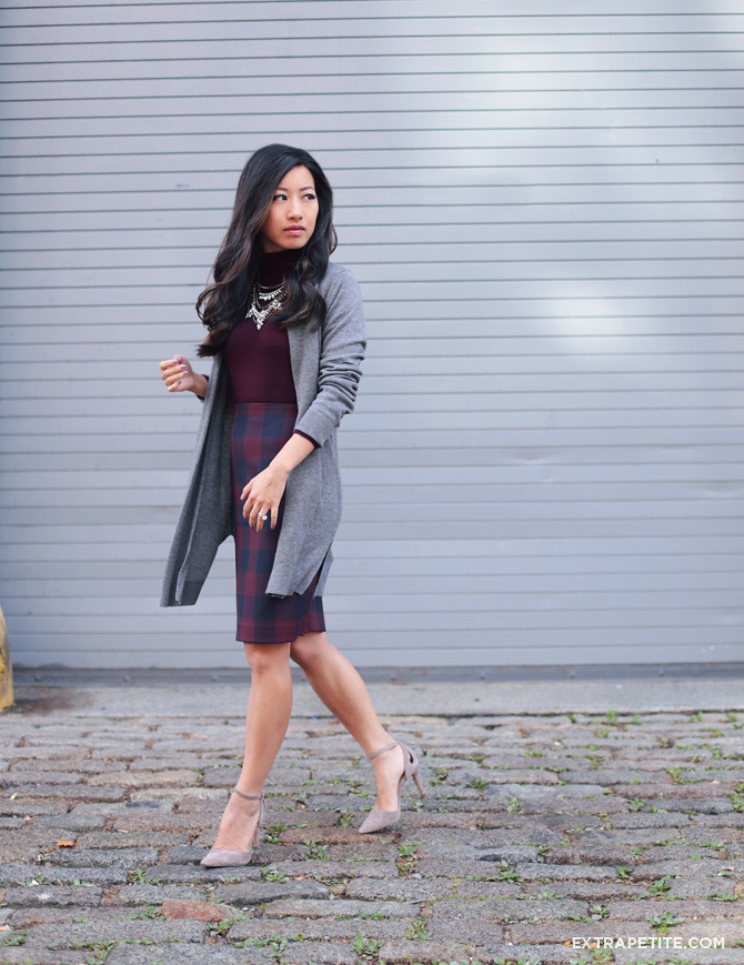 work outfit ann taylor skirt long cardigan
