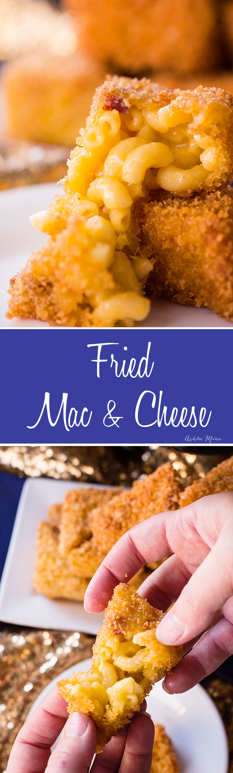it's easy to make your own fried macaroni and cheese at home - it's an easy appetizer that everyone will love at your next party!
