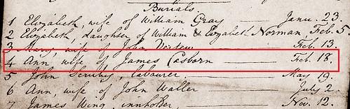 Ann Ward C burial Meld 1795