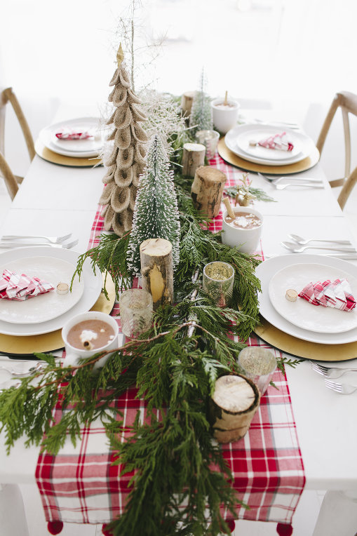 Plaid Holiday Table Runner