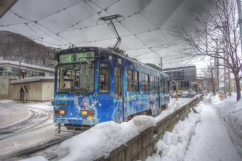 Tramcars at Sapporo on DEC 29, 2016 vol01 (10)