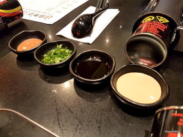 Housemade Spicy Oil, Coriander, Housemade Sesame Sauce, Housemade Fermented Bean Curd Sauce