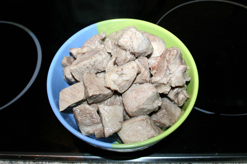 43 - Schweinefleisch aus Wok entnehmen / Take pork from wok