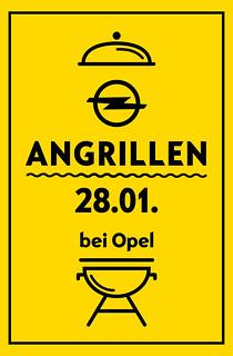 Angrillen bei Opel am 28. Januar 2017