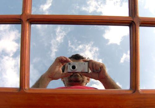 Autoportrait dans un miroir yves lalonde flickr for Miroir 3 pans