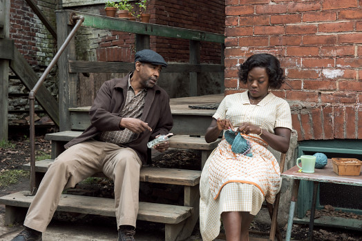 Denzel Washington and Viola Davis reprise their Broadway roles as Troy and Rose Maxson in FENCES. photo by David Lee, Paramount Pictures