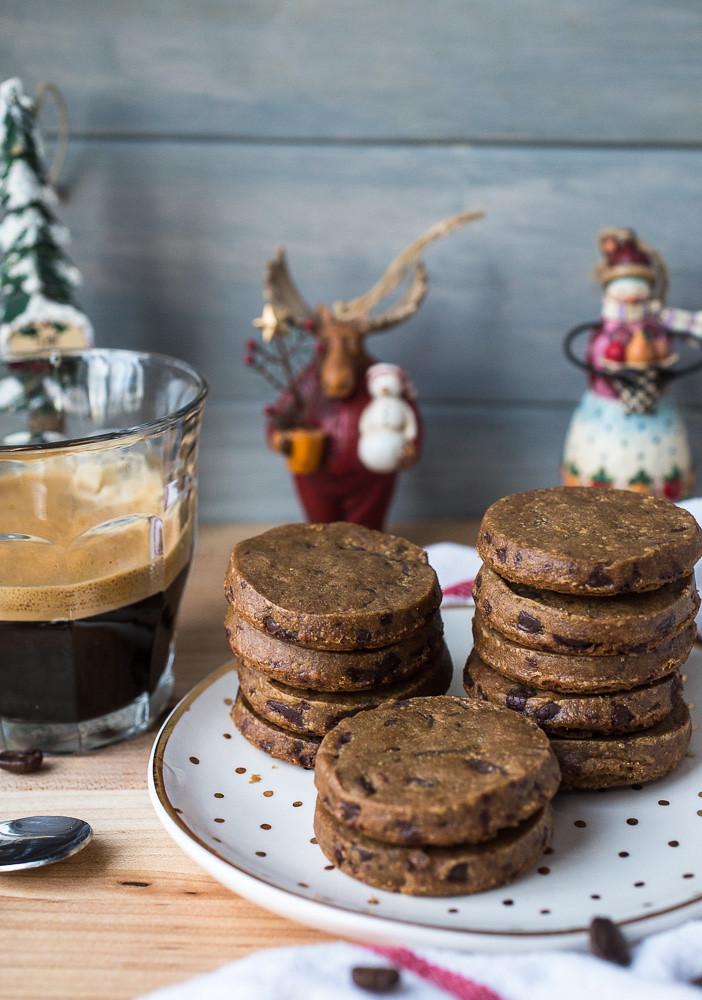 Espresso Dark Chocolate Sablés