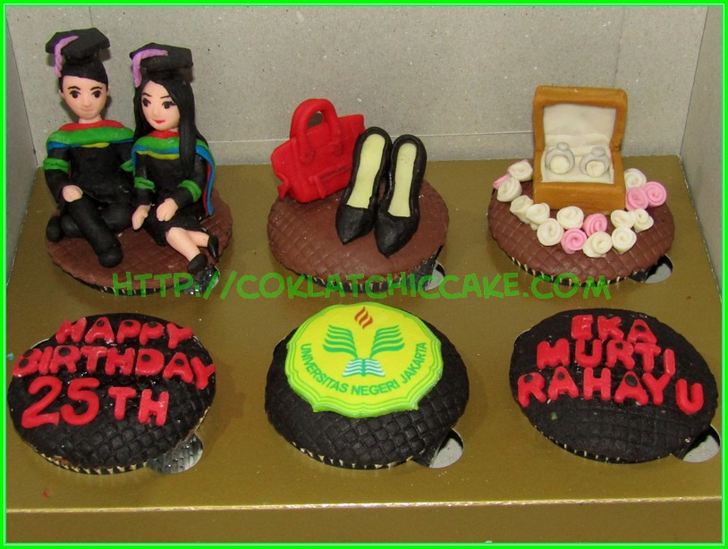 cupcake set wisuda