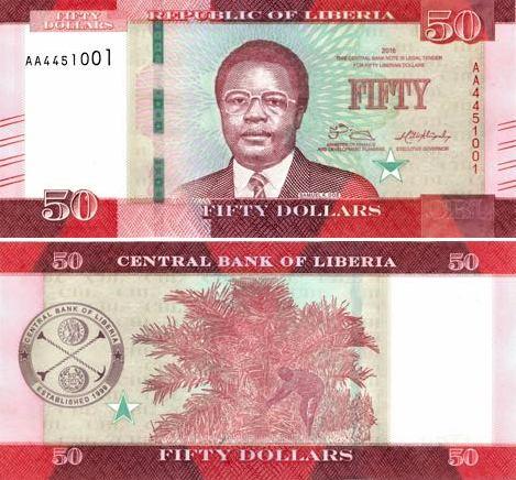 50 Dolárov Libéria 2016, P34