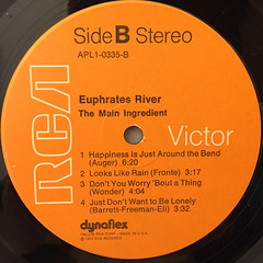 THE MAIN INGREDIENT:EUPHRATES RIVER(LABEL SIDE-B)