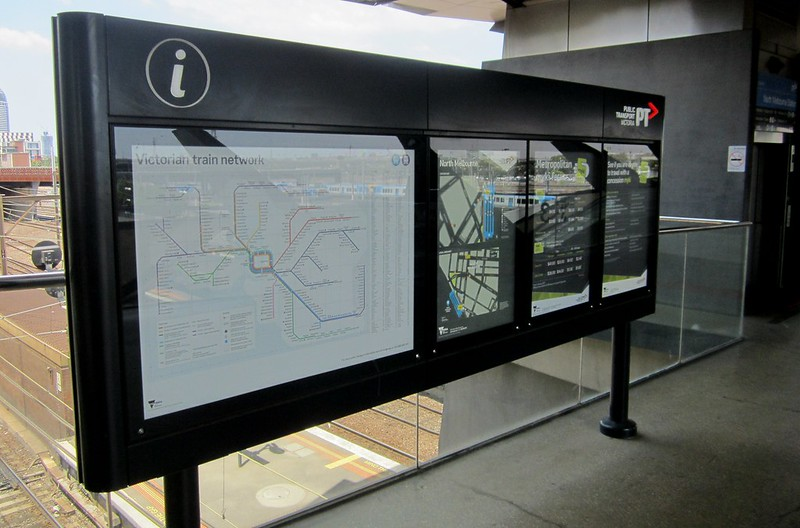 New rail map at North Melbourne station