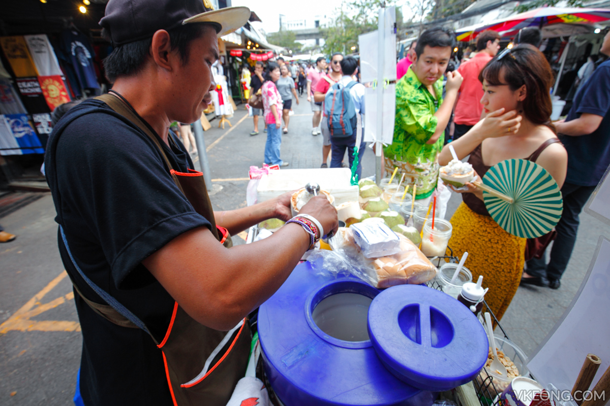 Chatuchak Weekend Market Coconut Ice Cream Stall