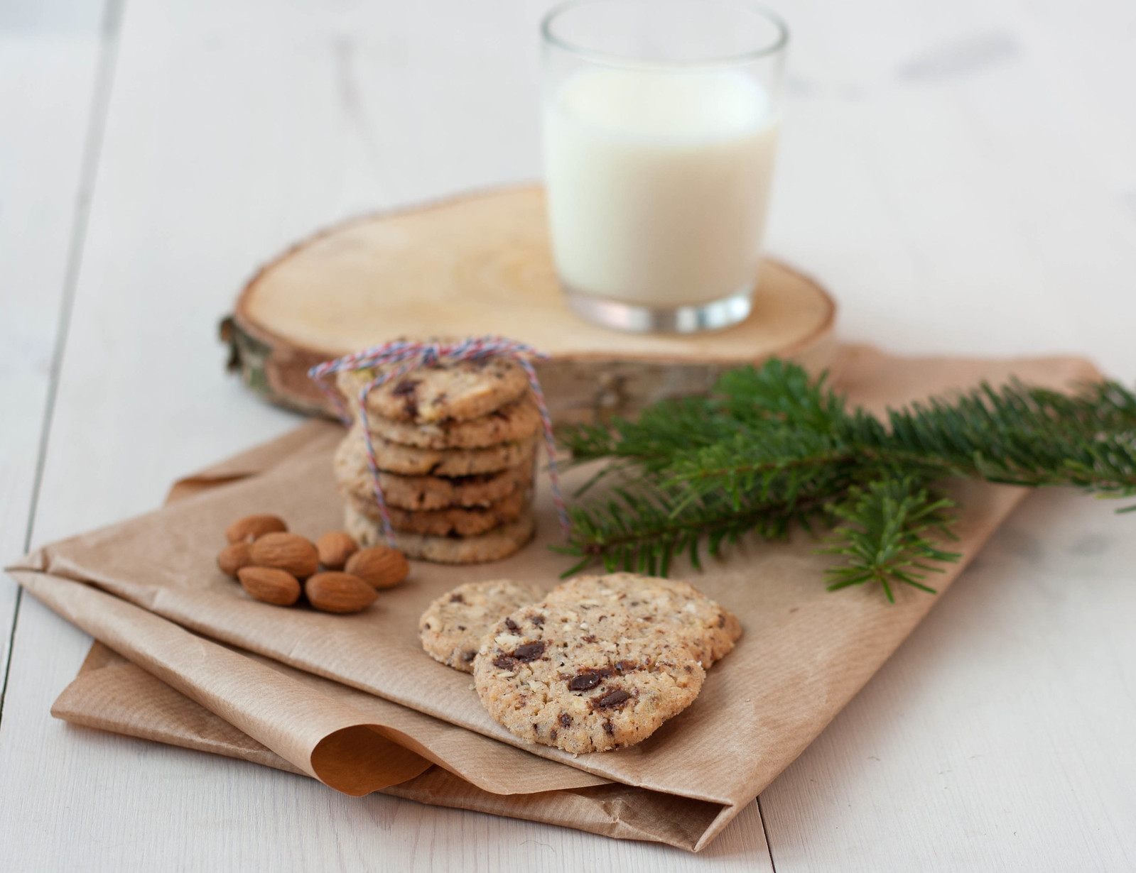 Recipe for Homemade Cookies with Nuts and Chocolate
