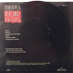 TEARS FOR TEARS:SHOUT(JACKET B)