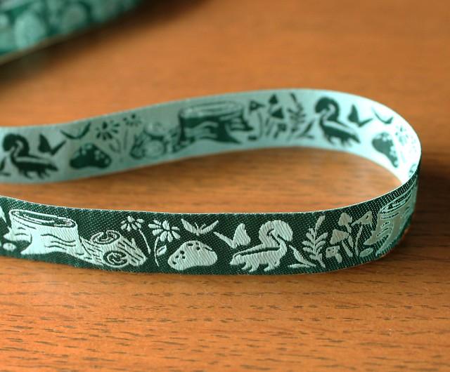 Renaissance Ribbons Woodland Animal Indigo Meadow Reversible