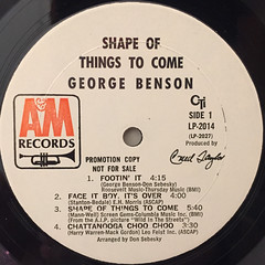 GEORGE BENSON:SHAPE OF THINGS TO COME(LABEL SIDE-A)