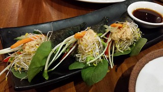 Mock Tuna Nori Roll at Yong Green Food