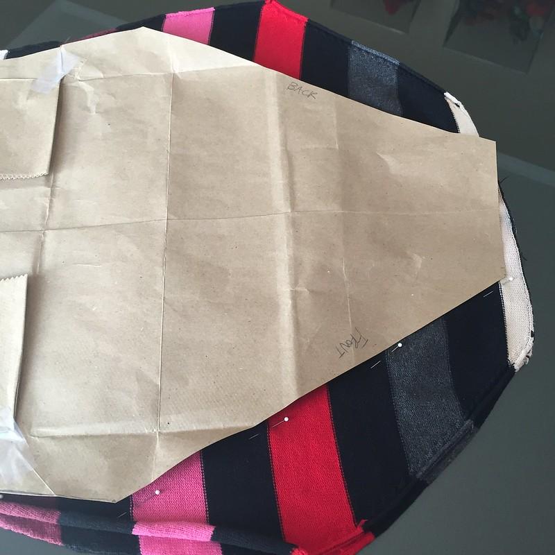 Asymmetric Striped Sweater - In Progress