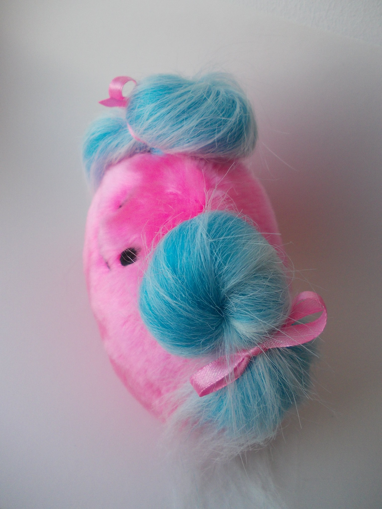 Cute toy, cute monster, kawaii monster, kawaii princess, pink blue toy, blue hair toy, blue hair princess, warm fuzzies 81