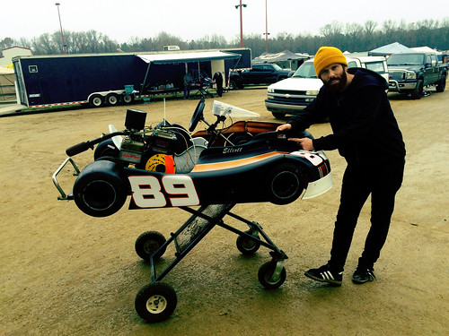 Elliott and his 89 Kart (Jan 9 2016)