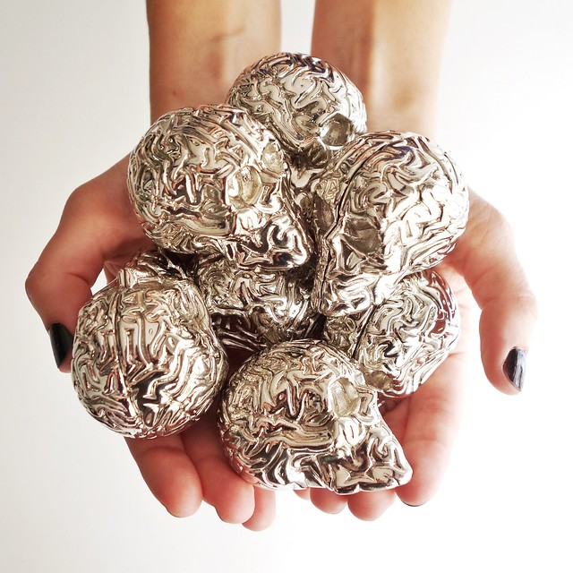 CHROME MINI SKULL BRAIN