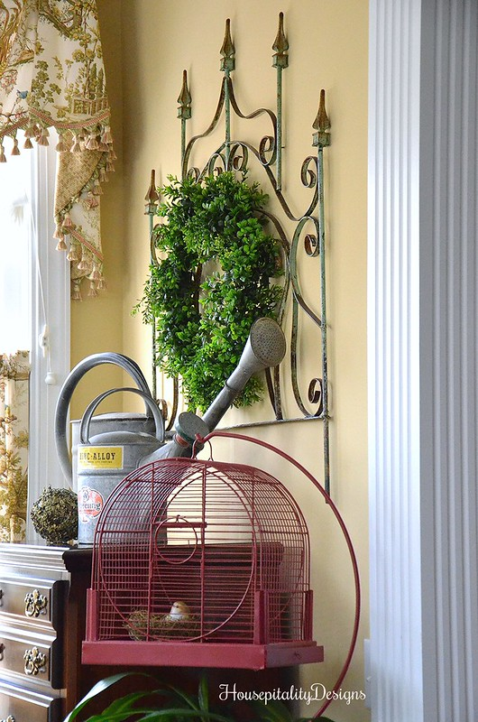 Sunroom-Vintage Bird Cage-Vintage Gate-Housepitality Designs
