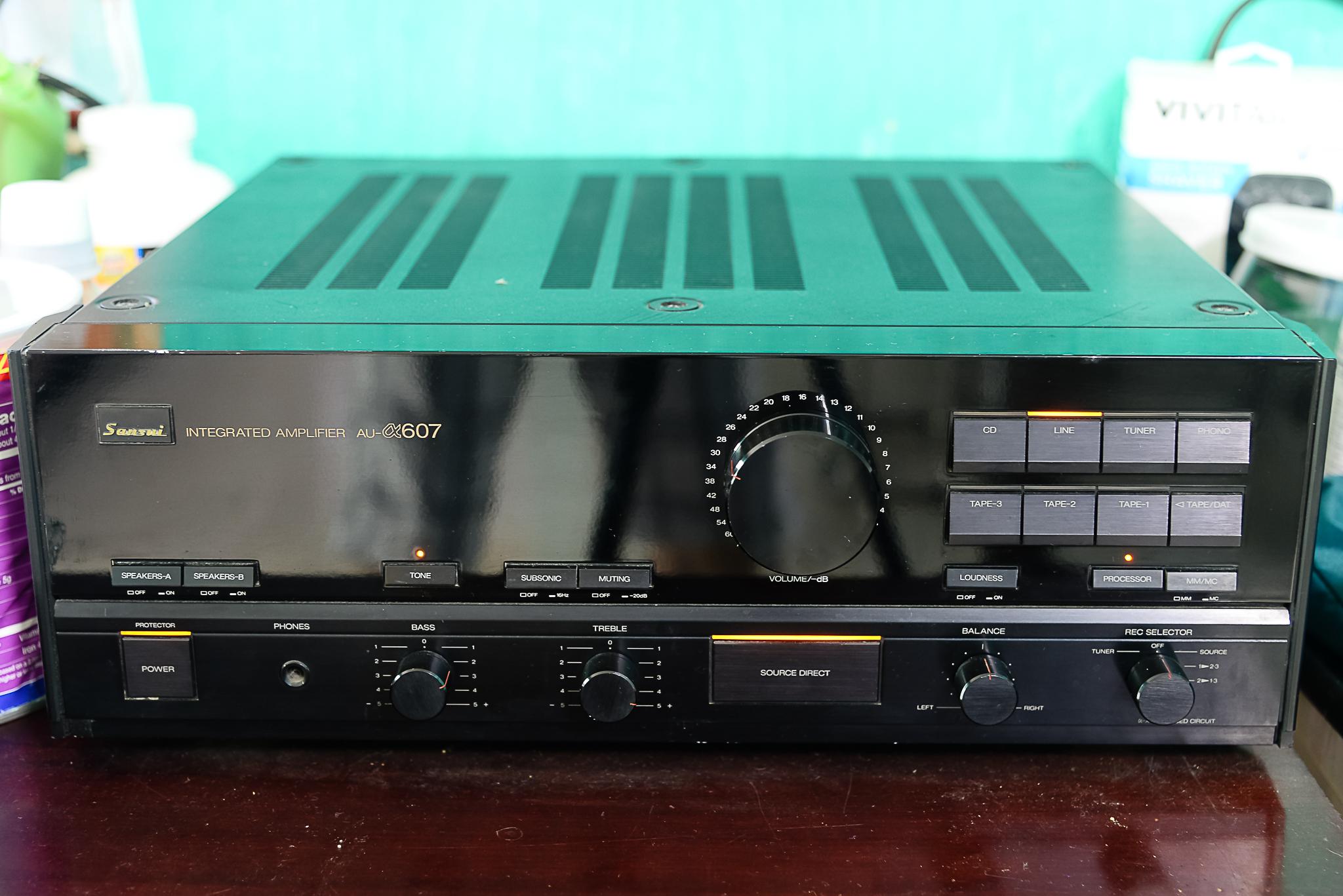 Cần bán amply Sansui AU607, CDP Sony X55ES, loa Pioneer S-X4 và tai nghe JBL J33i